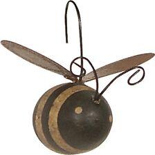 NEW!~Primitive Wood Bumble Bee Ornament~Set of 12~Tree/Wreath/Mini/Hive