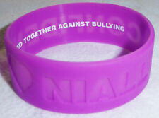 NIALL HORAN WIDE RUBBER BRACELET OFFICE DEPOT ONE DIRECTION WRISTBAND PURPLE