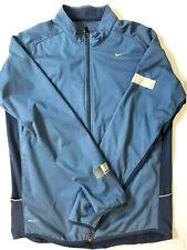 Nike Element Shield Dri-Fit Thermal Running Jacket 424242-449 Men'S L - Blue