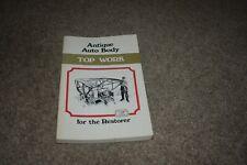 Antique Auto Body for the Restorer: Top Work by Herbert Butler 1970