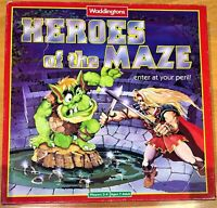 HEROES OF THE MAZE BOARD GAME WADDINGTONS VINTAGE 1991 100% Complete -see pics
