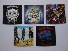 Motorhead lot of 5 album stickers / ace of spades bomber overkill iron fist