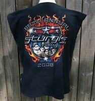 "Worn Biker Motorcycle "" 2008 STURGIS RALLY 68th BLACK HILLS SD "" T Shirt Tee"