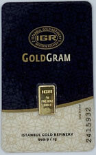 1 gram IGR Gold Bar - 999.9 Fine in Sealed Assay Card
