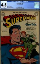 SUPERMAN # 58- CGC 4.5- 1949 DC RARITY- IST TINY TRIX