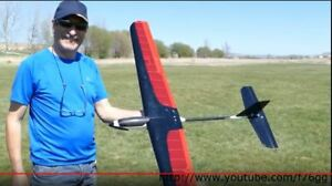 RC Glider EP 1.4M Blue Wing Advance T-Tail Aerobatic Thermal Sailplane ARF