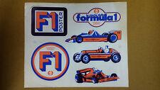 Adesivo Sticker LA STORIA DELLA FORMULA UNO 6 adesivi in 1 cm 21 x 25,5 circa