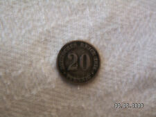 20 Pfenning Münze, 1876 E, Silber
