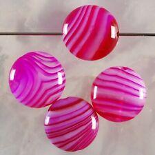 Q62515 10x5 4Pcs Stripes Agate Round Pendant Bead
