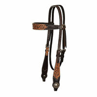 Circle Y Floral Painted Inlay Browband Headstall