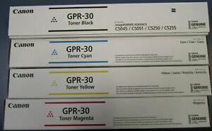 Canon GPR-30 Toner Cartridges Complete Set New  ( Cyan, Yellow, Magenta, Black )
