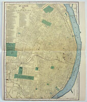 Original 1895 Map of St. Louis, Missouri by Dodd Mead & Company, Antique