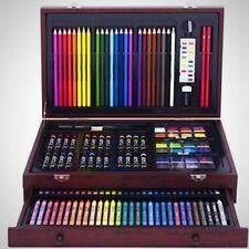 Art 101 142-Piece Wood Art Set Drawing Supplies Deluxe Case Creative Fun Kids