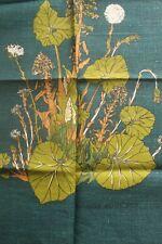 More details for vintage irish linen tea towel butterbur & coltsfoot by joan charnley signed unus