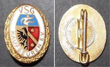 Emaillierte Broschen-Anstecknadel Ehrennadel VSG Kaufbeuren E.V. Kranz goldenf.