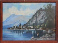 Gardasee Panorama - Pastell signiert  Größe: 56 X 76 cm