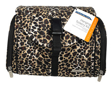 Travelon Leopard Hanging Toiletry Bag Kit Travel Organizer Case NWT 6107 Quilted