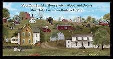 Headin Home Amish Farm House Church Cotton Fabric Elizabeths Studio 24
