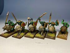 Warhammer Orcs and Goblins - Goblin Wolf Riders x 6 Painted Very Well