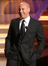 Vin Diesel Black Suit Designer Wedding Grooms Dinner Casual Suit (Coat+Pants)