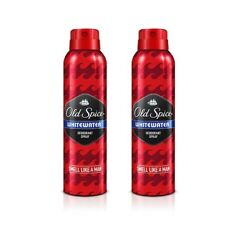 Pack of 2 White Water Old Spice Anti Perspirant Deodorant Body Spray 150 ml