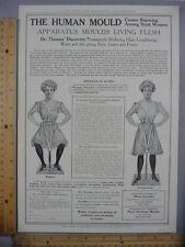 Rare Original VTG 1901 Dr Thomas Human Mould Apparatus NY Advertising Art Print