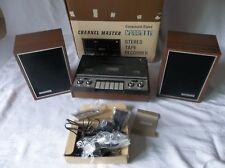 Vintage CHANNEL MASTER Cassette Player Recorder Model 6320 Microphone & Speakers