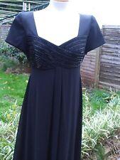 Stunning Vintage? Black Beaded Full Length Evening Dress- LIZ CLAIBORNE- 10/12