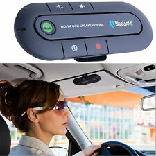 Multipoint A2DP Bluetooth Handsfree In Car Phone Kit Wireless Speaker Visor Clip