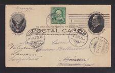 USA 1902 UPRATED POSTAL STATIONERY CARD CLEVELAND OHIO TO MURREN SWITZERLAND