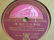 78 rpm-DUKE ELLINGTON - The mood to be wooed - GRAMOPHONE 8731