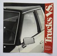 1981 Datsun Trucks Comparison Brochure Vintage Original