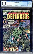 DEFENDERS #27 CGC 8.5 WHITE PAGES   1ST STARHAWK!!