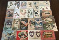 Lot of 25 Vintage Bird Greetings Postcards with *BIRDS~Bird-in sleeves-h232
