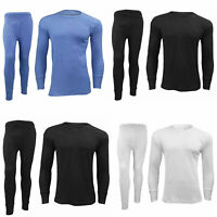 Mens Full Set Thermal Underwear Winter Workout Long Johns Long Sleeve Top Shirt