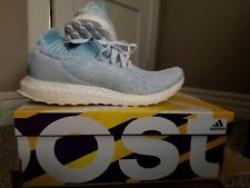 Adidas Men's Ultra Boost Uncaged Parley Icey Blue White CP9686 10.5 NEW