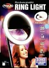 WHITE Rechargeable Selfie Portable LED Ring Fill Light IPhone Android PCs Laptop