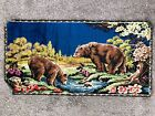 """Vibrant Vintage Wall Hanging Tapestry Brown Bear Rug 38"""" x 19"""""""