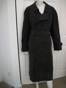 44 BLACK COAT W/ BELT REMOVABLE WARM LINING by MISTY HARBOR