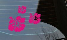 3x Hawaiian Flower Hibiscus sticker girly car van lorry bedroom laptop folder