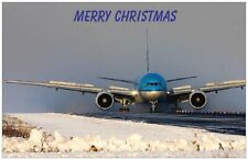 KLM ROYAL DUTCH AIRLINES BOEING 777 CHRISTMAS CARD- NEW EDITION- LIMITED EDITION