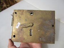 Victorian Brass Door Lock Antique Bathroom Bolt Vintage Old Georgian (NO KEY)
