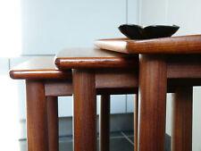 60er TEAK Set TAVOLI TAVOLINO 60s moltiplica Tables Danish design Wegner era