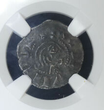 Crusader-Antioch 1 Denier 1149-63 VF25 NGC Bohemond III Chatillon Regency