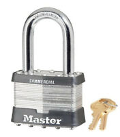 "Master Lock Padlock 15KALH Keyed Alike Large 2-1/2"" Wide Laminated Steel Body"