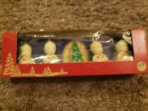 vintage GURLEY CHRISTMAS CANDLES Box of 5, Choir and Trees MINT
