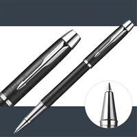 Perfect Parker New IM Grid Rollerball Pen Black Forest Silver Clip 0.5mm F Nib