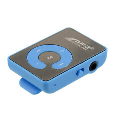 Mini Mirror Mp3 Sport Music Player With TF-Card Slot Up To 8GB Blue Hot