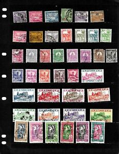TUNISIA: NICE  'VINTAGE' STAMP COLLECTION  DISPLAYED ON 4 SHEETS. SEE SCANS