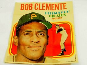 1970 Topps Pin-Ups # 21 Bob Clemente Pittsburg Pirates Outfield No 21 of 24
